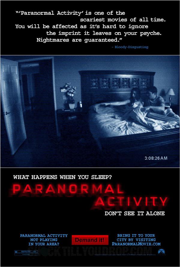 Posteren til 'Paranormal Activity' er klar