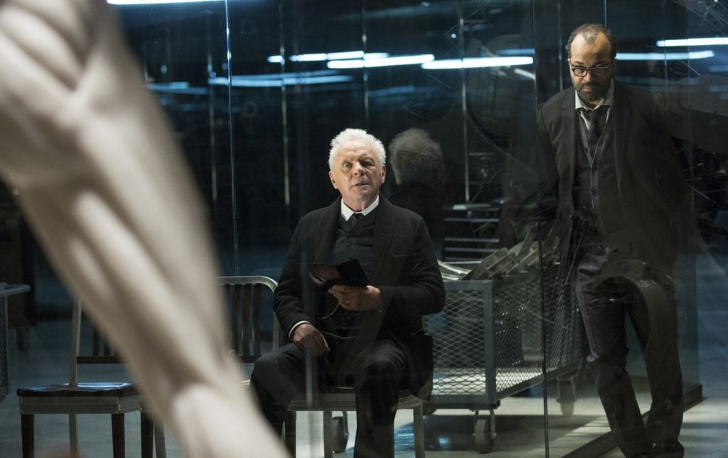 Anthony Hopkins og Jeffrey Wright i Westworld
