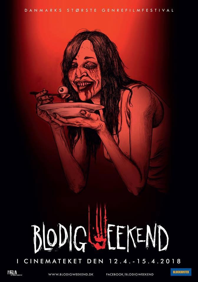 Blodig weekend 2018 plakat designet af John Kenn Mortensen