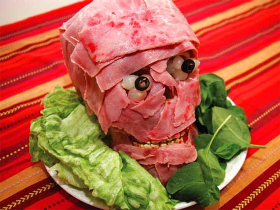 Kødhoved Halloween mad