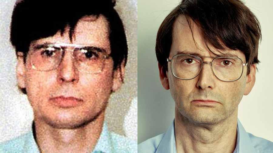 David Tennant (t.h.) som seriemorderen DES (t.v.)